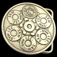 Vintage Smith & Wesson .357 Magnum Belt Buckle 1980