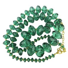 Fresh Clear Green Bead Necklace - Thank You Joan Rivers