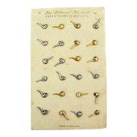 Orig. 1930s Store Display of BILTMORE Tie-Tack - Mini Pipe - Made in England