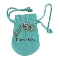 Tiffany & Co. Sterling Silver Mini KEY Charm Pendant