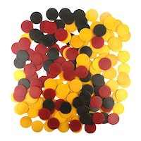 173 Bakelite Poker Chips Red - Yellow - Teal for Poker or Jewelry