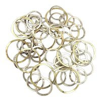 Links of Rings Long Sterling Silver Chain Necklace
