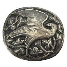 Rare Art Nouveau Sterling Silver Bird Pin Brooch Kristian Mohl-Hansen Pre-Jensen