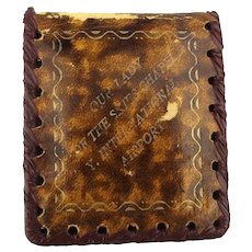 Old Leather Wallet Case for Pilot Catholic Prayer Mary Flying Prop