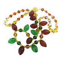 Crystal Glass Berry Nice Colorful Necklace
