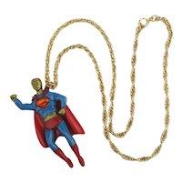 DC Comics SUPERMAN Enamel Pendant 1978