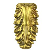 Art Deco 1930s Joseff Hollywood Clip Pin Russian Gold Plate