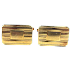 Vintage KREMENTZ Gold-Filled Ribbed Cufflinks