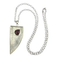 Balaam Designer Sterling Silver Necklace w/ Asymmetric Pendant