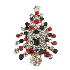 Super Sparkly Christmas Tree Pin