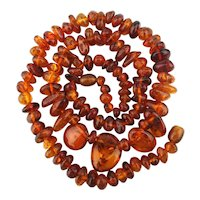 Enchanting Baltic Amber Bead Necklace