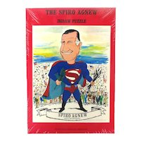1970 VP Spiro Agnew as Superman Jigsaw Puzzle - Mint in Box Political