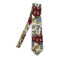 Vintage PICASSO Silk Necktie Art