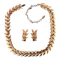 Mid-Century RENOIR Copper Necklace Earrings Set