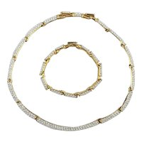 Simply Stunning Swarovski Set Necklace Bracelet Crystal Drenched