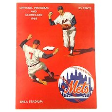 N.Y. METS 1968 Official Program and Scorecard vs. S.F. Giants Mays