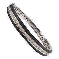 Estate Belle Etoile Sterling Silver Faux Diamond Bracelet