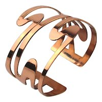 Squiggly Wiggly RENOIR Copper Cuff Bracelet