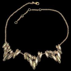 Vintage Alexis Bittar Edgy Crystal Rhinestone Necklace