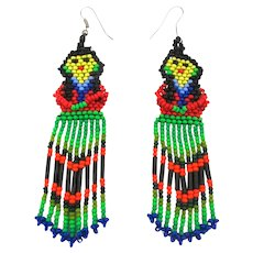 Native American Beaded Tribal Lady Earrings