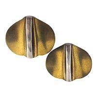 Modernist Marjorie Baer Clip Back Earrings