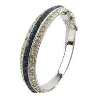 Art Deco Style ORA Crystal Rhinestone Bracelet
