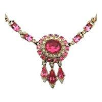 Vintage ORA Crystal Rhinestone Necklace