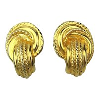 GIVENCHY Paris Gold Plate Clip Earrings
