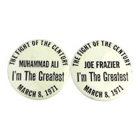 1971 Original I'M THE GREATEST Boxing Celluloid Pins Ali - Frazier Fight
