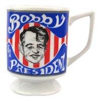 Vintage 1968 Robert Kennedy ~ Bobby for President ~ Coffee Mug
