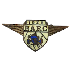 1938 BARC Brooklands Automobile Racing Club Pin Wings