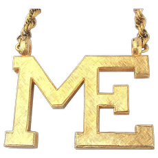 Just For You - The ME Necklace by Accessocraft 1970s