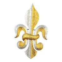 Vintage Fleur de Lis Symbol Pin Brooch Signed Marvella