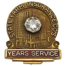 14K Gold STATE FARM Insurance Employee Service Pin
