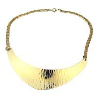 NAPIER Slice of Sleek Goldtone Crescent Necklace