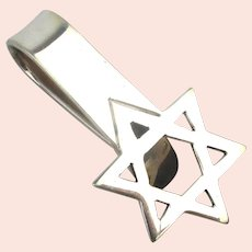 Taxco Sterling Silver Star of David Money Clip