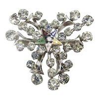 Masonic Order of the Eastern Star Enamel Rhinestone Pin