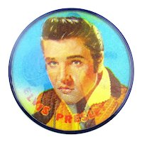 Original 1956 Elvis Presley Vari-Vue Flicker Flasher Pin 2.5 Inches