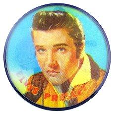 Original 1956 Elvis Presley Vari-Vue Flicker Flasher Pin 2.5 Inches