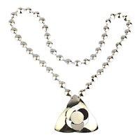 Modernist Hattie Carnegie Chrome Steel Necklace