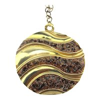 Gold on Sterling Silver Italian Necklace Waves of Glitter