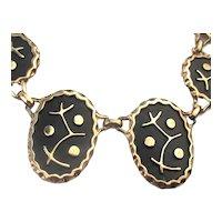 Odd Mod Black - Goldtone Necklace