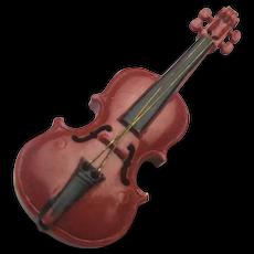 Old Miniature MITTENWALD Violin Vio- Pin Brooch