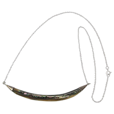 Sterling Silver Abalone Hammock Necklace