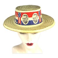 1964 Lyndon B. Johnson L.B.J. For The U.S.A. Campaign Hat