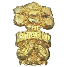 Vintage The Citadel Military Academy Meyer Pin