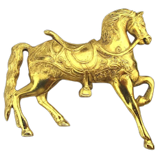 Vintage Coble Corey Carousel Horse Pin Brooch