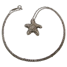 Vintage Tiffany & Co. 925 Sterling Silver STARFISH Necklace