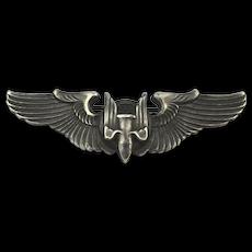 U.S. WW2 Army Air Force Bomber Aerial Gunner Sterling Wings