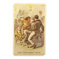 Original 1863 Stephens Carte de Visite Christmas Week Dancing Blacks Celebrating